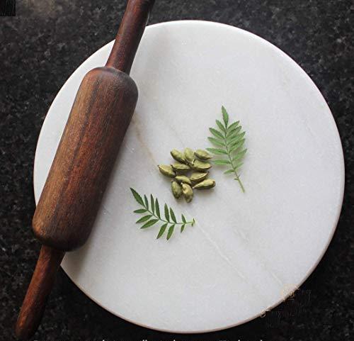Ruchit Handicraft Chakla | Pure White Marble Roti Roller Rolling Board | Roti Maker| Roti Maker | Phulka Maker | Rolling Pin Board or Round Board | Chapati Maker chakla for Home & Kitchen: Amazon.in: Home & Kitchen