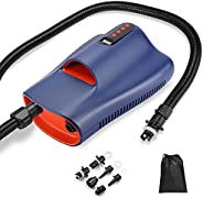 Holoana Paddle Board Pump 20PSI High Pressure SUP Electric Pump, Auto-Off SUP Air Pump with Dual-Stage Inflati