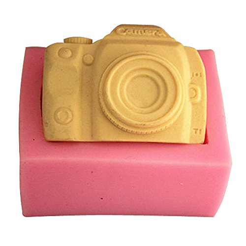 Lingmoldshop Camera FM252 Craft Art Silicone Soap mold DIY Candy mould Craft Molds Handmade Candle molds