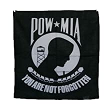 """POW MIA POWMIA 22""""x22"""" Cotton Bandana"""