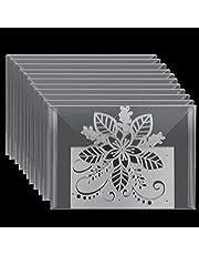 OOTSR 21 Pieces Clear Stamp and Die Storage Bag, 7x 5 Inch Scrapbooking Die Storage Plastic Storage Pockets for Cutting Dies Stencil Album Stamp Organization