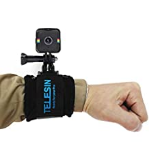 TELESIN 360 Degree Rotatable and Adjustable Wrist Strap with Frame Mount Adapter for Polaroid Cube Camera