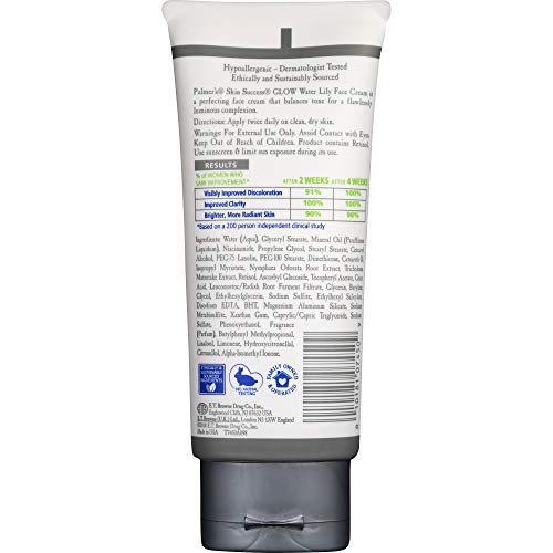 Palmer's Skin Success Glow Water Lily Face Cream | 2.7 Ounces