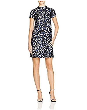 Theory Women's Jasneah Abstract Print Dress in Graphite Multi Size 6