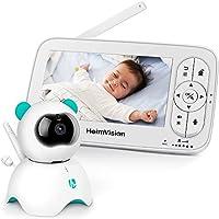 HeimVision Babyphone mit Kamera, 5-Zoll-LCD-Babyphone, HD 720P-Video, Zwei-Wege-Audio, Temperatur- und akustischer Alarm,...