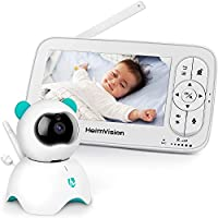 HeimVision HM136 Elektroniczna niania z kamerą, 5-calowa niania LCD, wideo HD 720P, dwukierunkowy dźwięk, alarm...