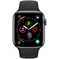 Apple Series 4 44mm Aluminium Case GPS Smartwatch with Black Sport Band (Space Gray)