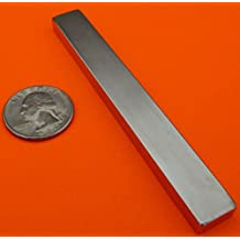 "Super Strong Neodymium Magnet N42 4 x 1/2 x 1/4"" Permanent Magnet Bar, The World's Strongest & Most Powerful Rare Earth Magnets by Applied Magnets"