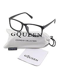 Glasses Queen 201512 Casual Fashion Rectangular Frame Clear Lens Eye Glasses,Matte Black