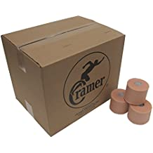 "Cramer Tape Underwrap, Bulk Case of 48 Rolls of PreWrap for Athletic Taping, Hair Tie, Headband, Patellar Support, Pre-Wrap Athletic Tape Supplies, 2.75"" X 30 Yard Rolls of Pre Wrap"