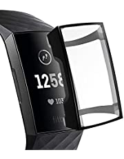 HEYUS Case Compatible with Fitbit Charge 3/4 Case, All-Around Protective HD Clear Waterproof Screen Protector for Fitbit Charge 4/3