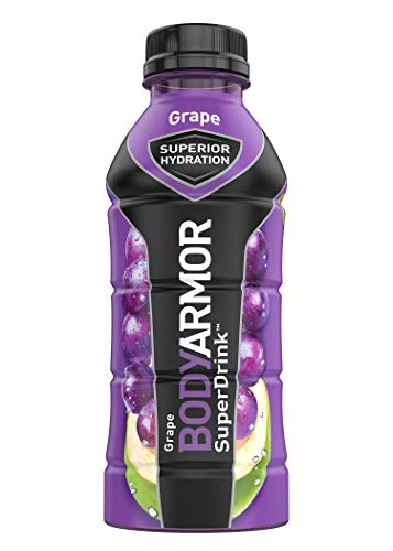 BODYARMOR Sports Drink Sports Beverage, Grape, Natural Flavors With Vitamins, Potassium-Packed Electrolytes, No Preservatives, Perfect For Athletes, 16 Fl Oz (Pack of 12)