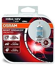 طقم لمبات للاضاءة الليلية للسيارات انليمتد من اوسرام HB4 -12 فولت، 51 وات