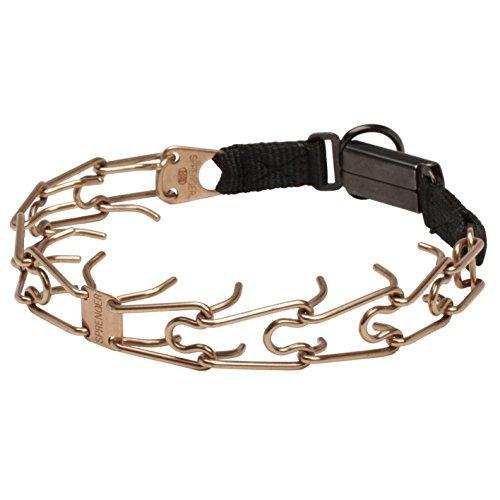 Herm Sprenger Click Lock Buckle American Bulldog Pinch Collar Made of Curogan 1 8 inch (3.2 mm) Size 21 inch (52 cm)