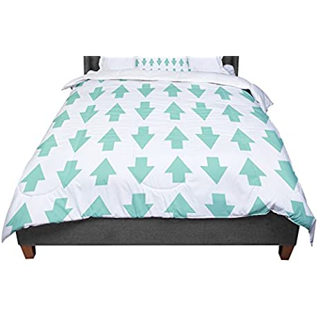 KESS InHouse Project M Arrows Up Down Mint Twin Comforter 68 X 88