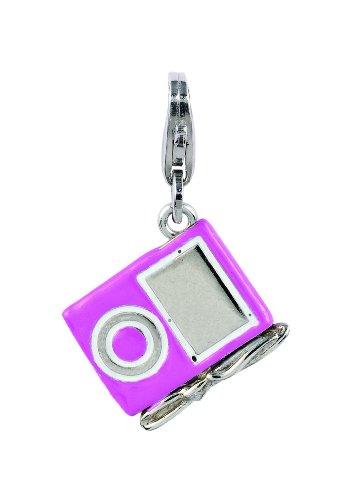 Amore & Baci Charming Life Silver Pink Ipod Charm - Fits On Thomas Sabo Giorgio Martello and Ti Sento