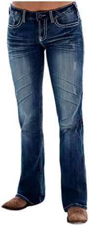 Cowgirl Tuff Western Denim Jeans Womens Edgy Barbed Wire Med JEDGYJ