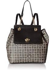 حقيبة ظهر ذات مسمار سلسلة مطبوع عليها شعار Anne Klein