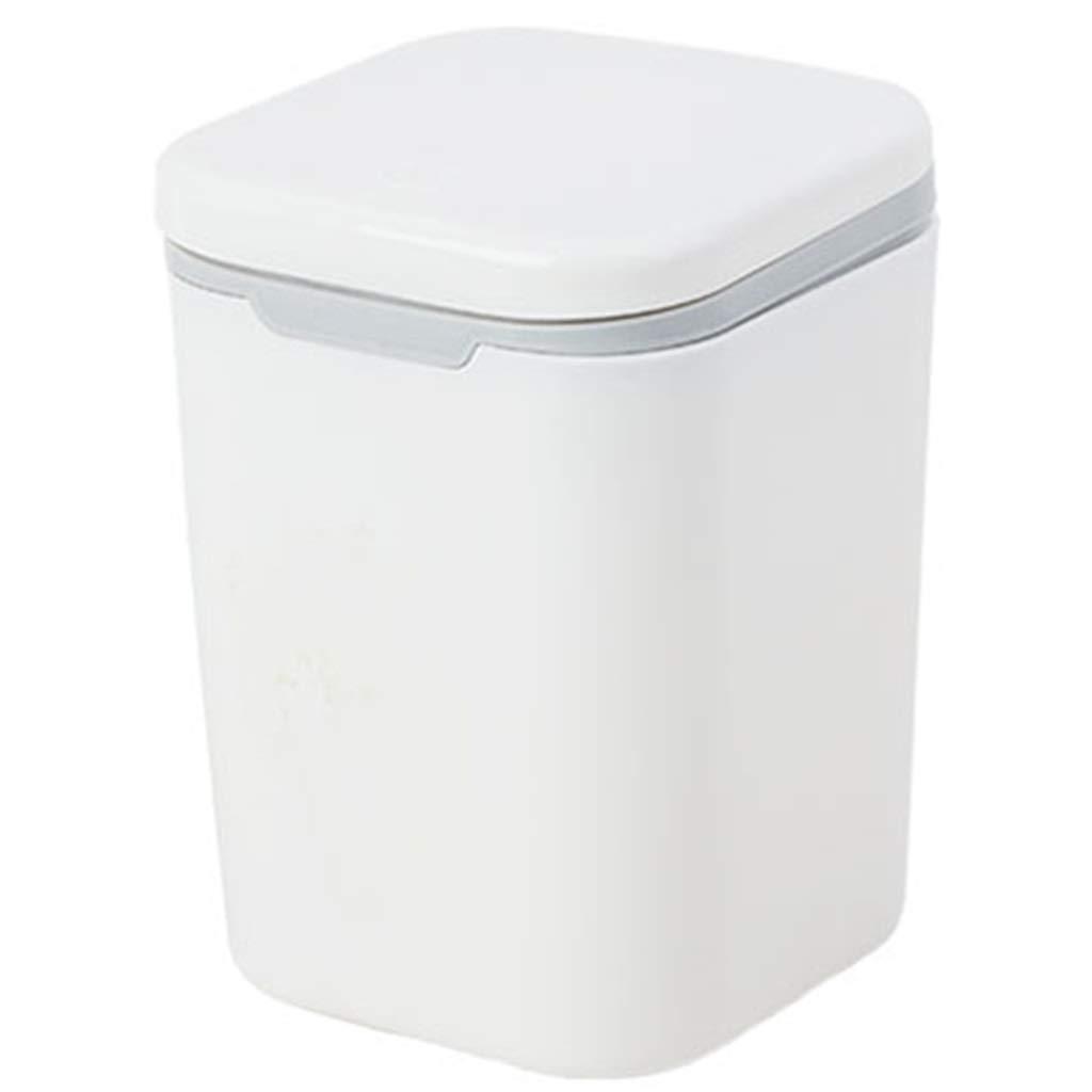 Papelera superior superior Papelera táctil/Cubo de basura/Cubo de basura/Cocina/Hogar/Plástico - Cuadrado blanco b096a9