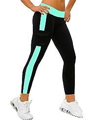 4How Women's Cotton Spandex Ankle Length Capris Yoga Pants