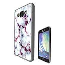 c00803 - Cool Bloggers Favourite White Marble Effect Design Samsung Galaxy A5 A500M - 2015 Fashion Trend CASE Black & Clear Gel Rubber Silicone All Edges Protection Case Cover