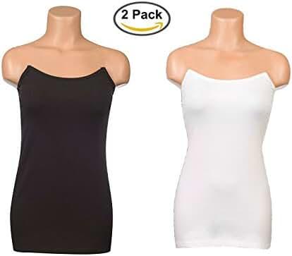 Undercover Mama Black and White Nursing Tank Bundle for Breastfeeding, Pregnancy