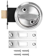 Huishoudelijke badkamer Dubbelzijdig slot 304 roestvrijstalen ring Trekring Handvat Onzichtbare deur Brandkraan Deurslotaccessoires(Zilver)