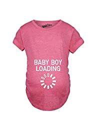Maternity Baby Boy Loading Funny Nerdy Pregnancy Announcement T shirt (Pink) M