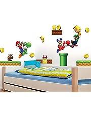 Super Mario Wall Decal 3D Wall Stickers väggtatueringar & bilder Removable PVC Cartoon Wall Sticker för Kids Sovrum Vardagsrum Playrum Wall Decor 30 x 60 cm