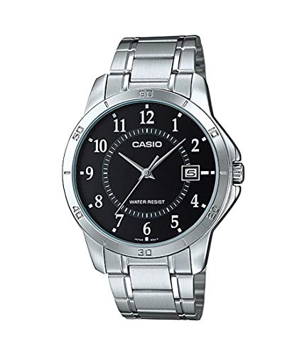 Casio MTP-V004D-1B Black Dial Stainless Steel Watch