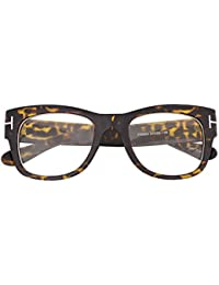 Oversized Square Thick Horn Rimmed Clear Lens Eye Glasses...