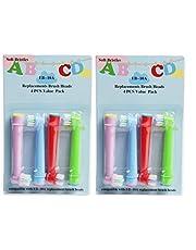 EB-10A - Cabezal de cepillo de dientes de repuesto profesional para niños, diseñado para cabezales de cepillo eléctrico Oral B, cerdas suaves, 4 piezas/tarjeta