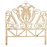 KOUBOO 1110048 Peacock Headboard Rattan Size Color, Twin, Natural
