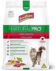 Ração Baw Waw Natural Pro para gatos adultos sabor Carne e Arroz