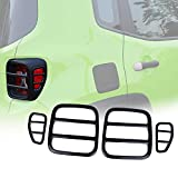 Yoursme Tail Light Cover Lamp Guard Rear Taillight Trim Cover Protector for 2015 2016 Jeep Renegade Set of 4 (BLACK)