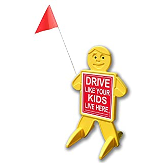 Drive Like Your Kids Live Here Safety Kid Sign / Slow Down Children At Play Visual Warning- Highly Visible, Double Sided
