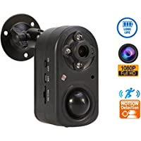 Motion Detection Security Camera,eoqo 1080P PIR Security Camera with Night Vision,Battery Powered Hidden Camera Support 24 Months Standby Time