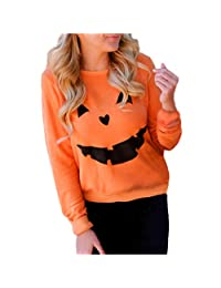 2016 Halloween Pumpkin Women T Shirt Tops Long Sleeve Sweatshirt