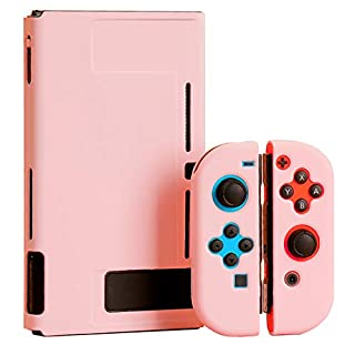 Protective Case for Nintendo Switch, Fit The Dock Station, Ultra-Thin PC Grip Cover Case for Nintendo Switch and Joy-Con Controller, Dockable Skin Shell with Shock-Absorption and Anti-Scratch Design