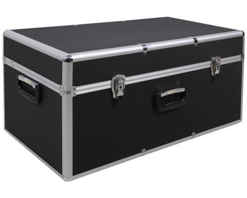 Ondis24 XXL Aufbewahrungskoffer Lagerkoffer Transportkoffer Alukoffer-Optik mit riesigem Stauvolumen schwarz mit Innenpolsterung abschließbar