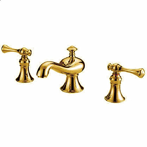 I gold Hlluya Professional Sink Mixer Tap Kitchen Faucet Antique gold three-hole faucet sink hot and cold full copper antique B