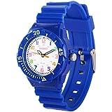 Kids 50M Waterproof Watch,PU Band Wrist Watch...
