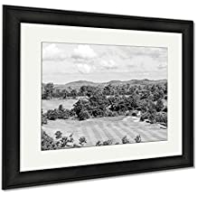 Ashley Framed Prints Sky Beautiful Golf Courses In Rayong Thailand, Modern Room Accent Piece, Black/White, 34x40 (frame size), Black Frame, AG5856172