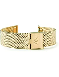 Wristology Quick Release Gold Metal Mesh Easy Change Band Strap 20mm