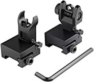 Feyachi Flip Up Rear Front and Iron Sights Best Backup fits Picatinny & Weaver Rails B