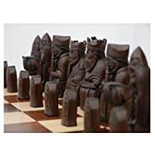 Isle of Lewis Theme Chess Pieces Ivory and Brown by Berkley