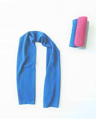 Cala Cobalt blue cooling towel