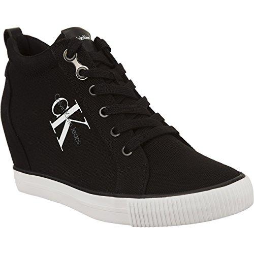 Calvin Klein Jeans Ritzy Nylon, Zapatillas Altas para Mujer Negro (Black 000)