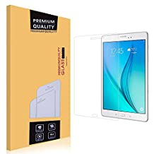 Samsung Galaxy Tab A 8.0 Glass Screen Protector,EasyULT Premium Tempered Glass Screen Protector for Samsung Galaxy Tab A 8.0-[Tempered Glass][Ultra Clear][9H Hardness] [Crystal Clear][Scratch-Resistant] [Easy-Install Wing]
