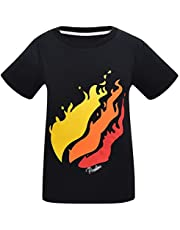 Thombase Youth YouTube Fire Nation Gamer Flame T-Shirts for Kids